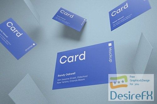 Cards 2 Product Mockup PSD