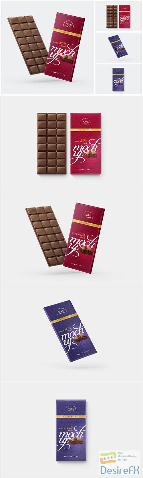 Chocolate Bar Mockup Set PSD