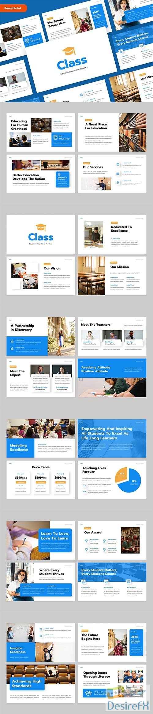 CLASS - Education PowerPoint, Keynote and Google Slides Template
