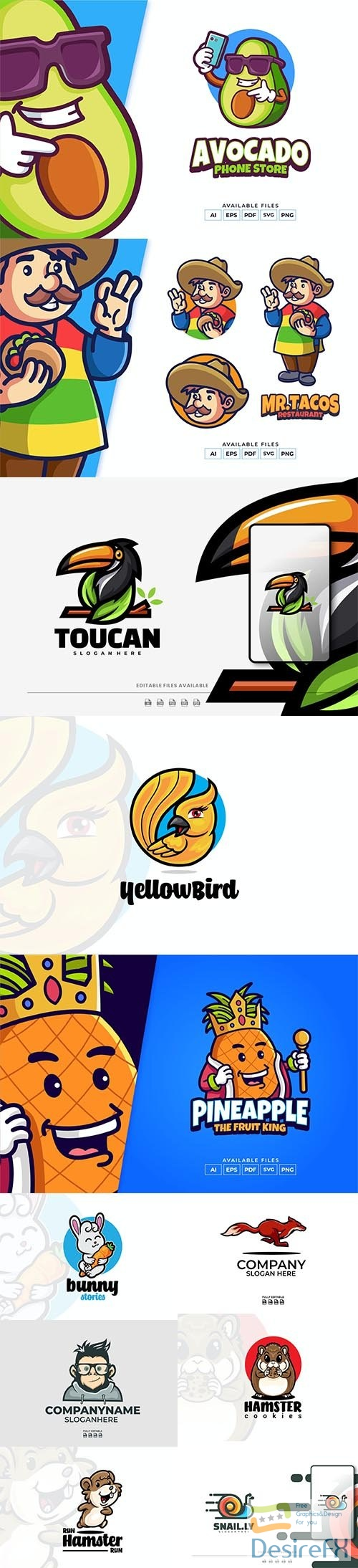 Colorful logo collection 2021 Vol 8