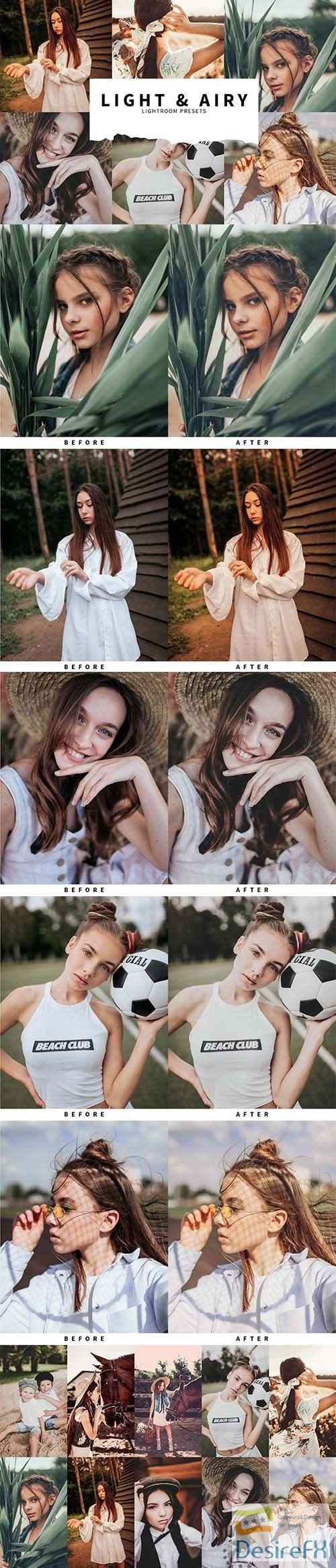 CreativeMarket - 10 Light & Airy Lightroom Presets 5978575
