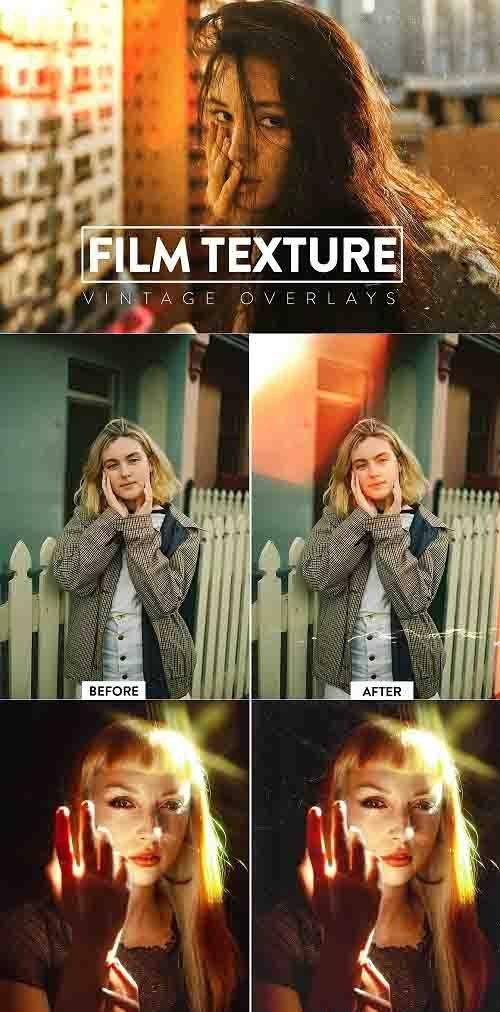 CreativeMarket - 50 Film Grain Textures Overlays 5929934