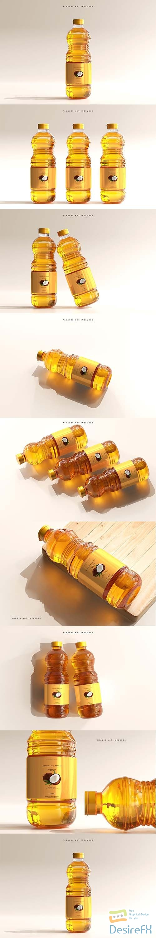 CreativeMarket - Cooking Oil Bottle Mockup 6005164
