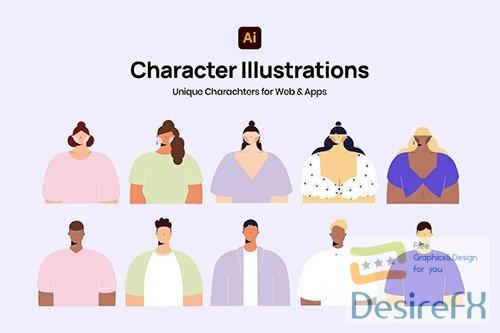 Cute Minimal Characters