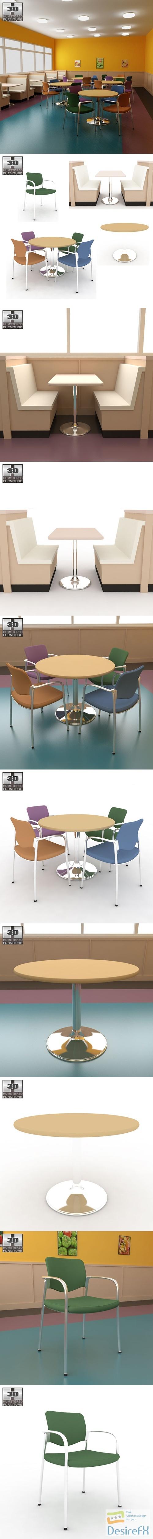 Dining room 04 Set 3D Model