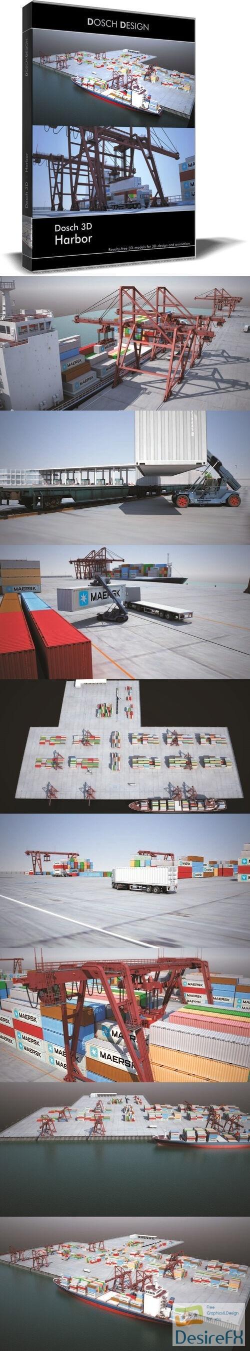 Dosch 3D-Harbor 3D Model