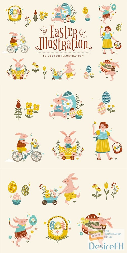 Easter Illustration Set