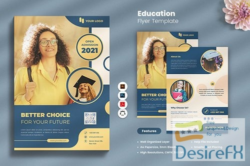 Education Flyer PSD