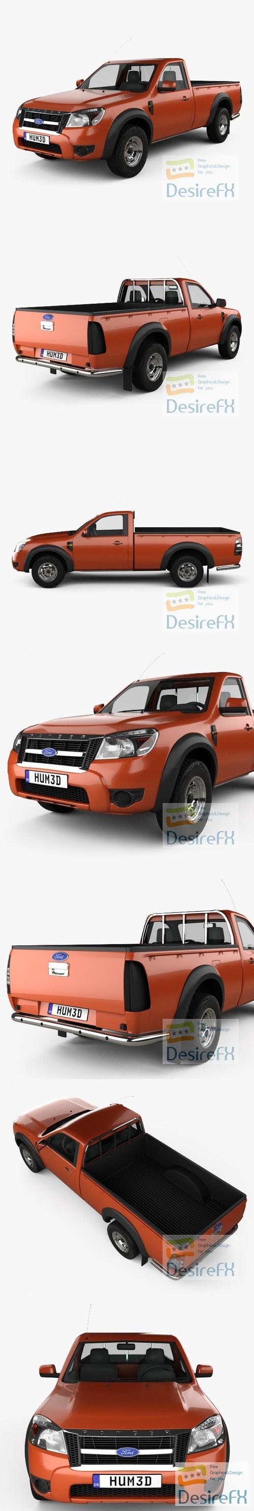 Ford Ranger Regular Cab 2009 3D Model