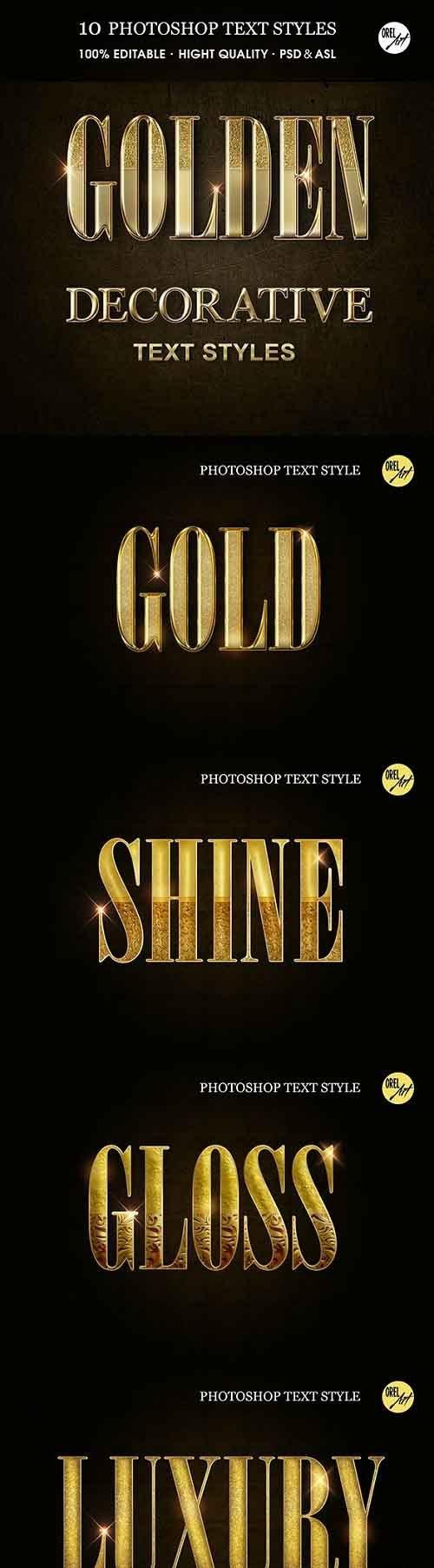 GraphicRiver - Golden Decorative Text Styles 30375826