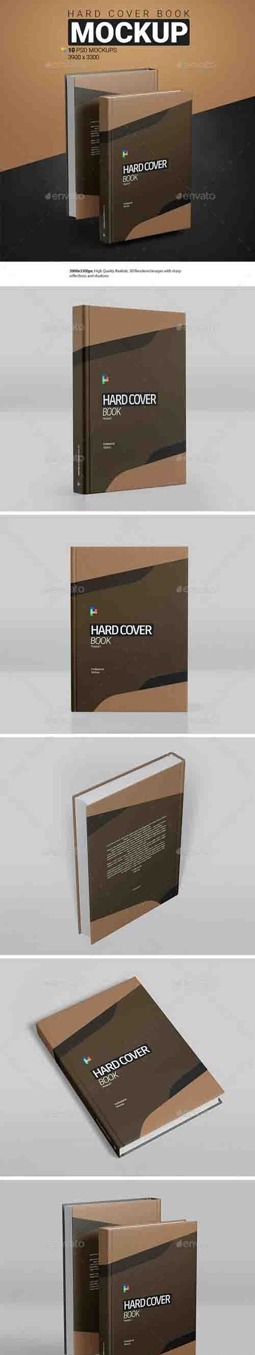 GraphicRiver - Hard Cover Book Mockup 30353249
