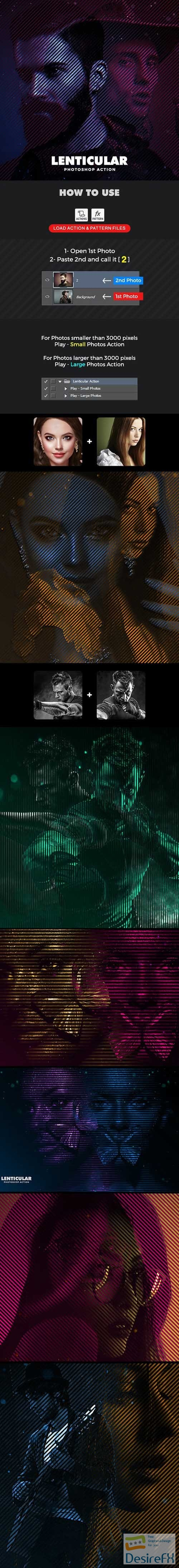 GraphicRiver - Lenticular Photoshop Action 30263145