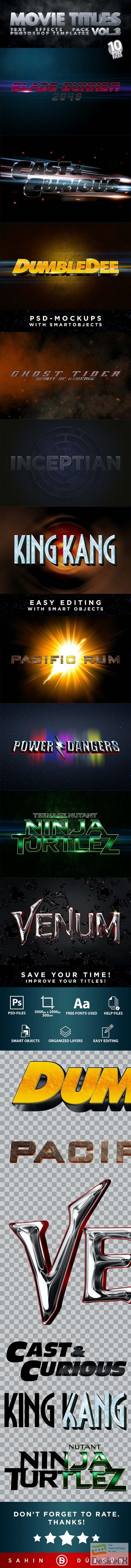 GraphicRiver - MOVIE TITLES - Vol.3 | Text-Effects/Mockups | Template-Pack 30289874