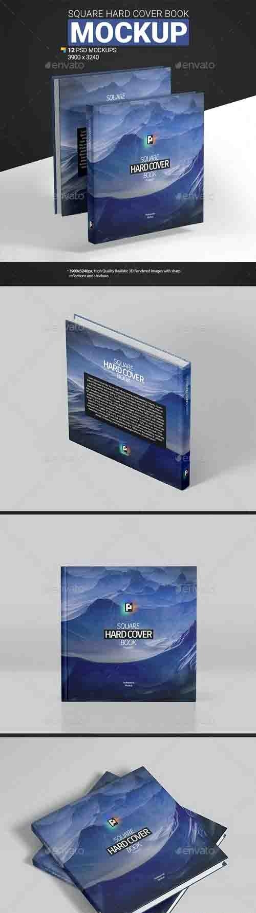 GraphicRiver - Square Hard Cover Book Mockup 30662468