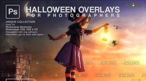 Halloween clipart Halloween overlay, Photoshop overlay v31 - 1132997