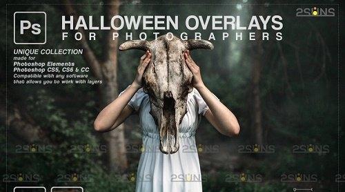 Halloween clipart Halloween overlay, Photoshop overlay v36 - 1133001