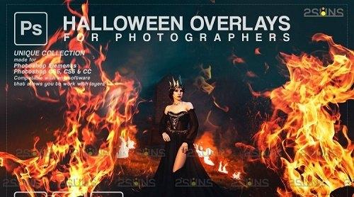 Halloween overlay & Halloween photoshop fire V40 - 1133003
