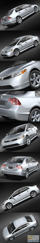 Honda Civic Sedan 2008 3D Model