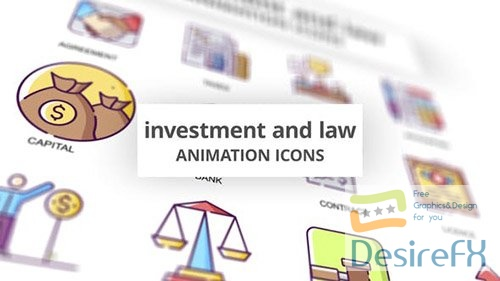 Investment & Law - Animation Icons 30885368