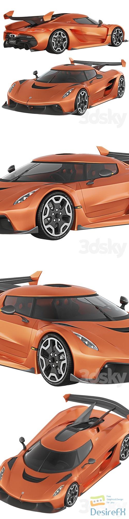 Koenigsegg Jesko 2019 3D Model
