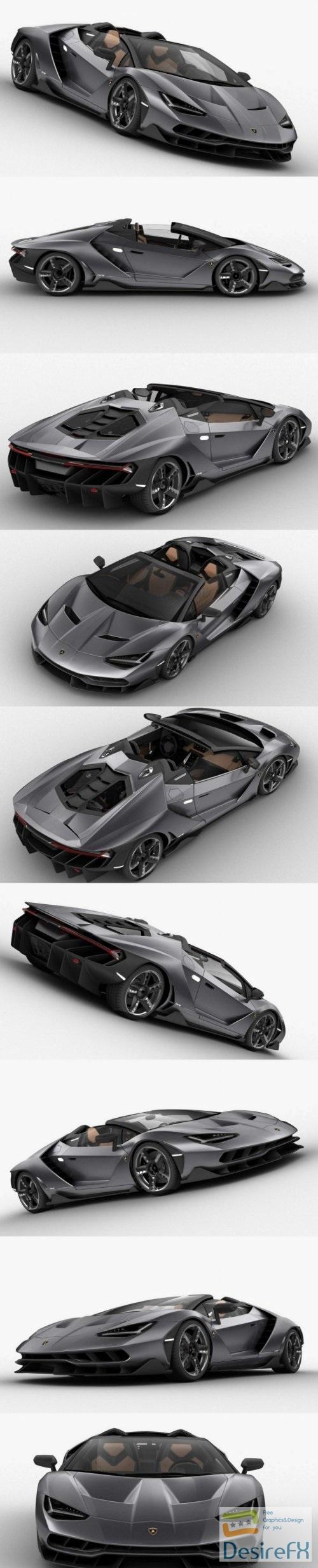 Lamborghini Centenario 2017 3D Model