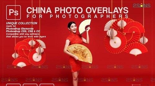 Lunar New Year photo overlay China png V2 - 1223533