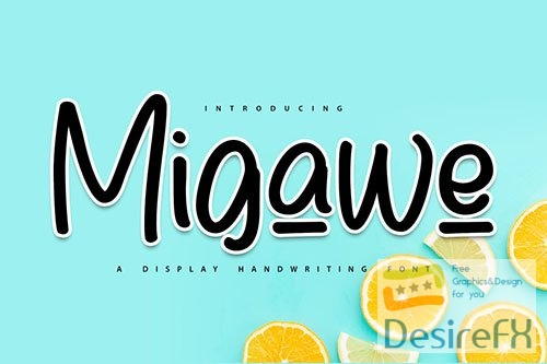Migawe | Display Handwriting Font