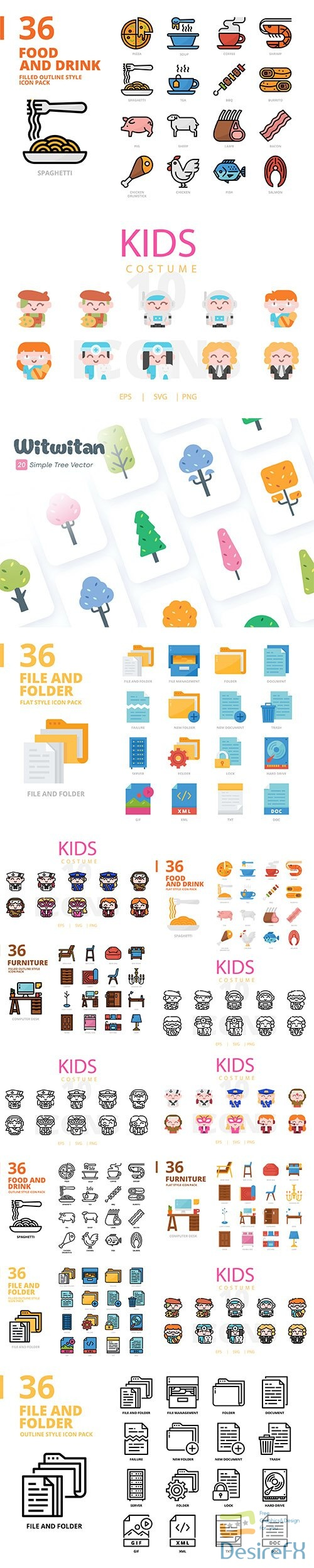 Mix collection of vector icons vol 4