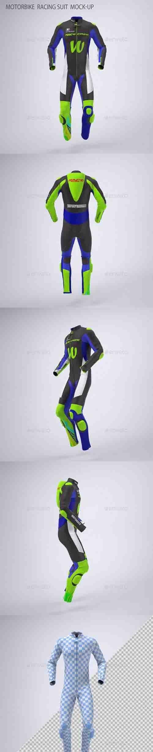 Motorbike Racing Suit Mock-Up - 30740485