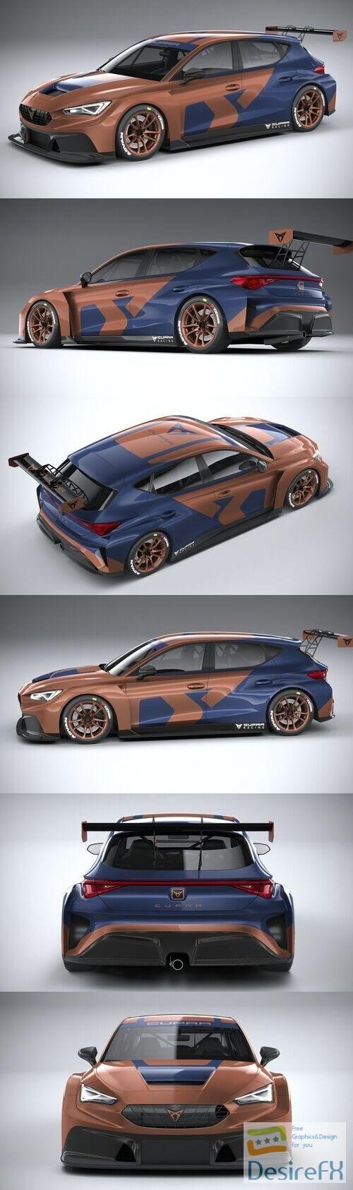 Seat Leon Cupra Competicion 2020 3D Model