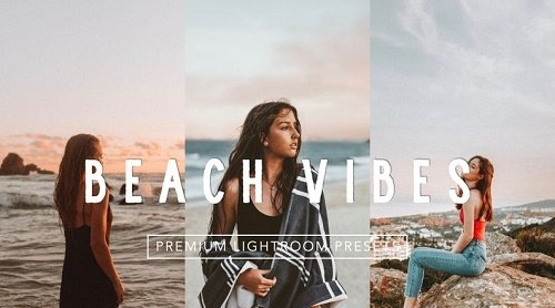 Warm Summer Film Beach Vibes Lightroom Presets Pack