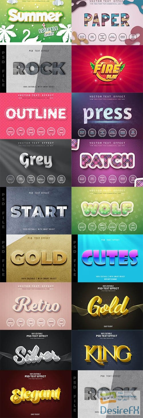 17 PSD Text Effects Pack