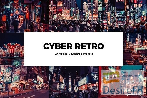 20 Cyber Retro Lightroom Presets - 6103911
