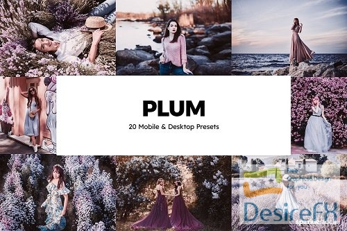 20 Plum Lightroom Presets & LUTs - 6046642