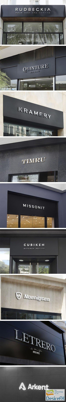3D Facade Sign and Logo PSD Mockups Templates