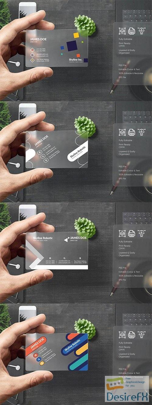 4 Modern Business Card Templates