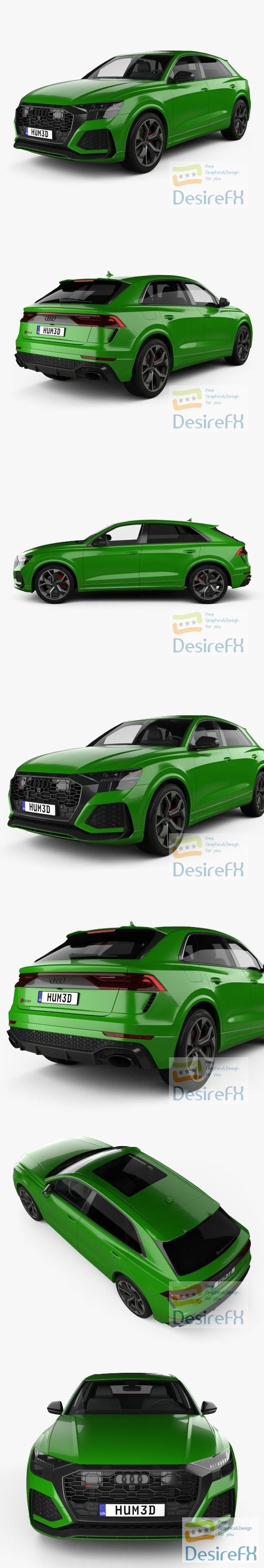 Audi Q8 RS 2020 3D Model