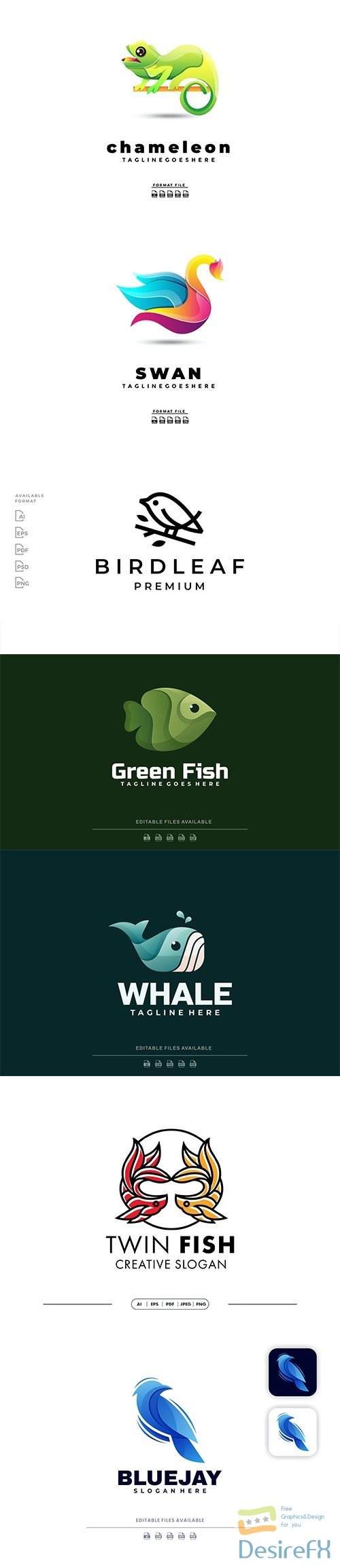 Beautiful Logo template Collection
