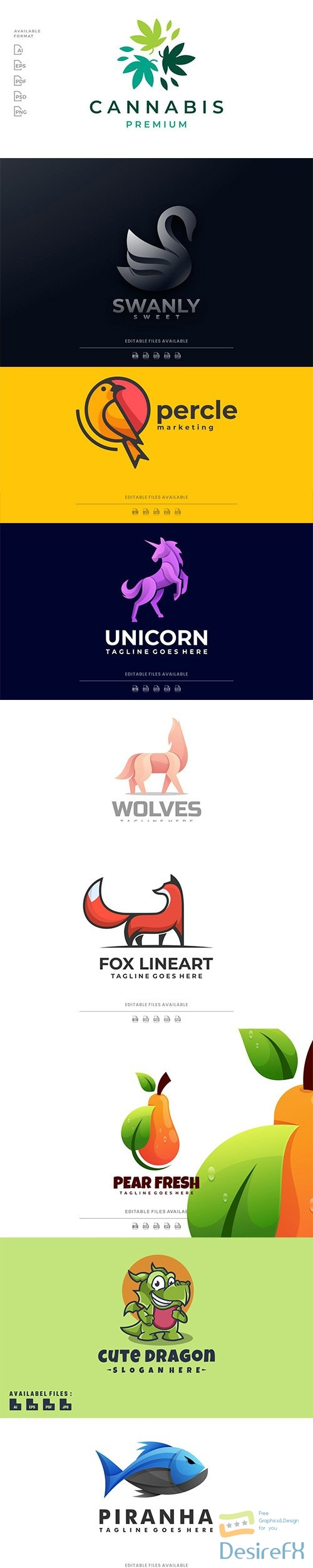 Beautiful Logo template Collection Vol2