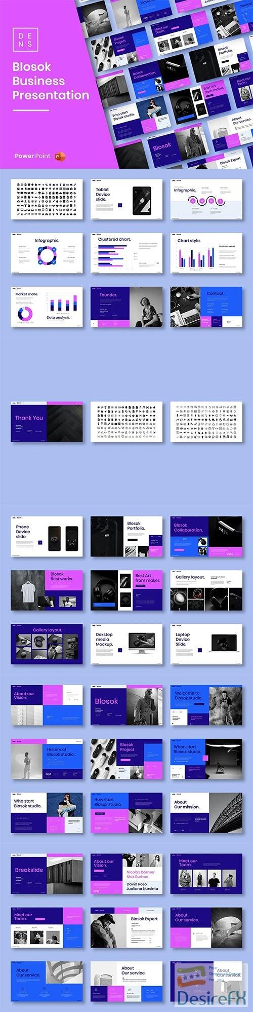 Blosok – Business PowerPoint Template