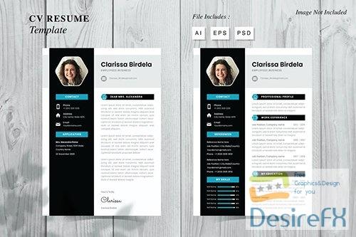 Clarissa Birdela - CV Resume Template