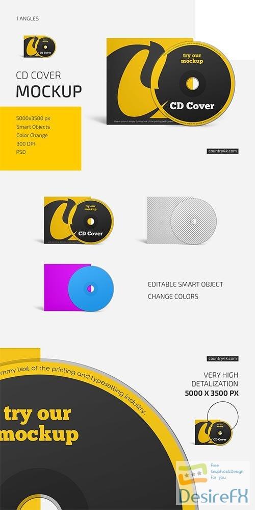CreativeMarket - CD Cover Mockup 6033696