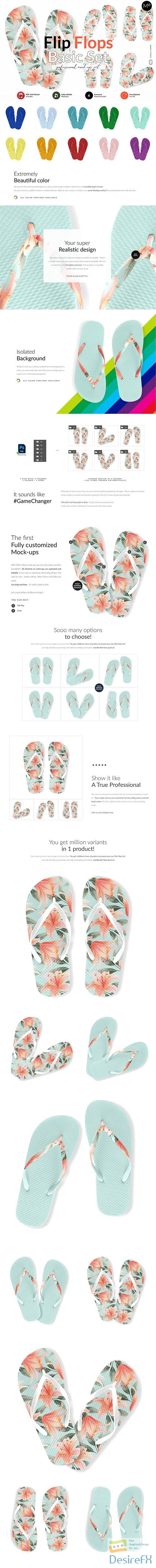 CreativeMarket - Flip Flops Basic Set Mock-ups 6018077