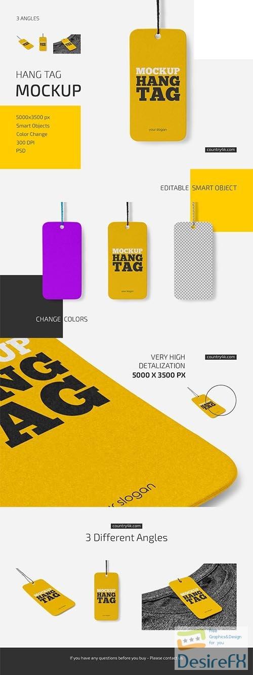 CreativeMarket - Hang Tag Mockup Set 6033710