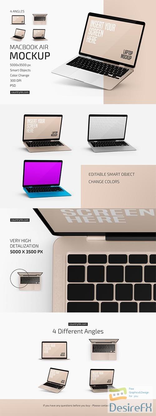 CreativeMarket - Macbook Air Mockup Set 6041691