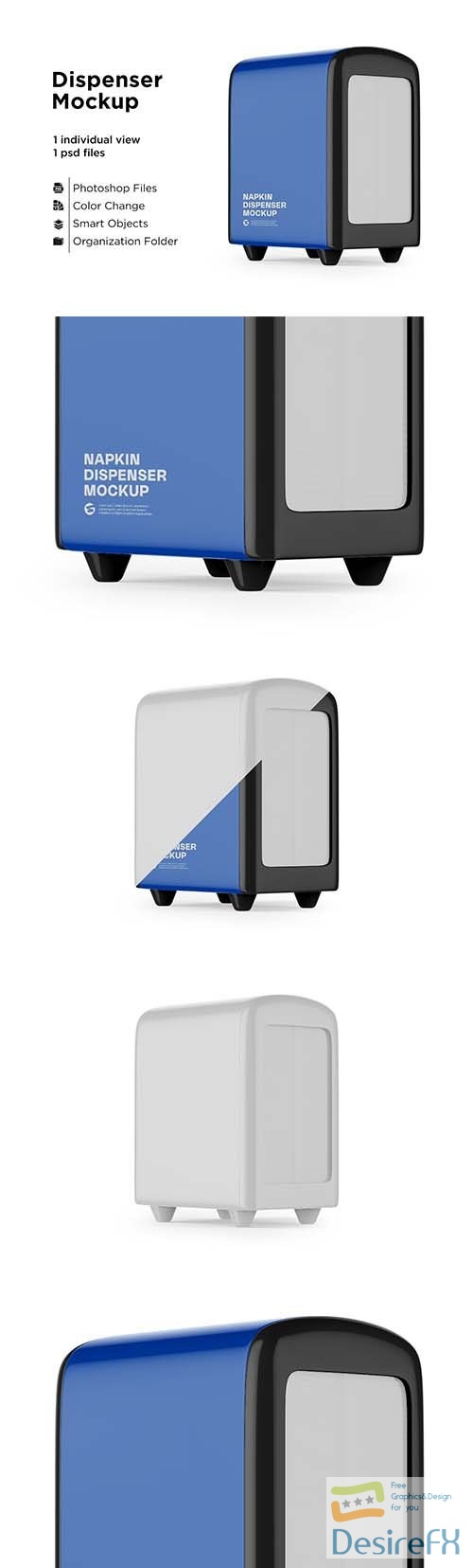 CreativeMarket - Napkin Dispenser Mockup - Half Side 6063374