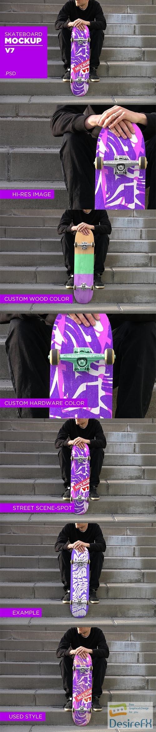 CreativeMarket - Skateboard Mockup V7 - PSD 5935931