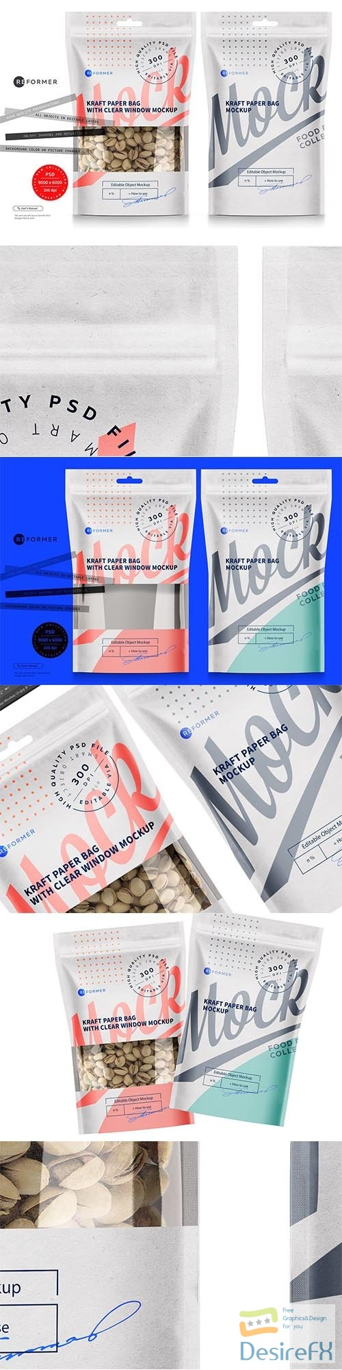CreativeMarket - Two White Paper Bags Mockup 5722485
