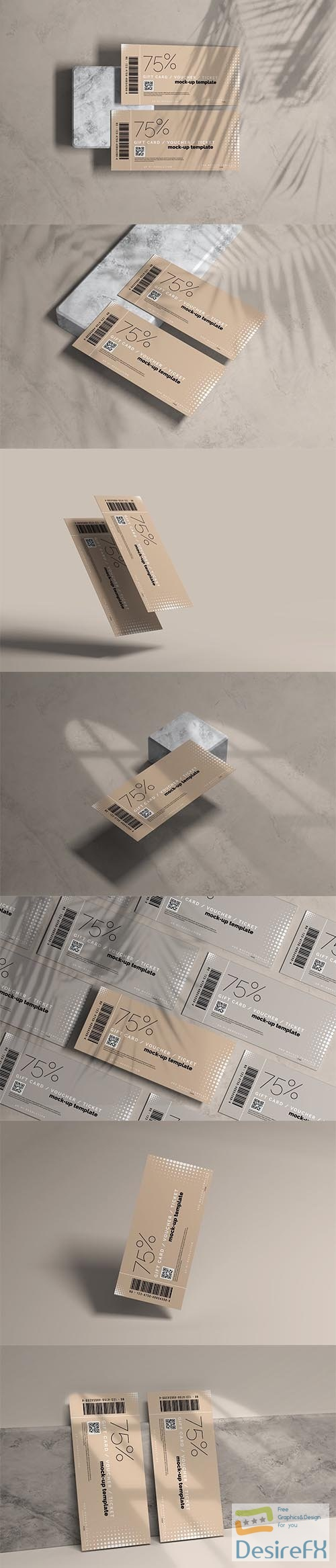 CreativeMarket - Voucher or Ticket Mockup 5606918