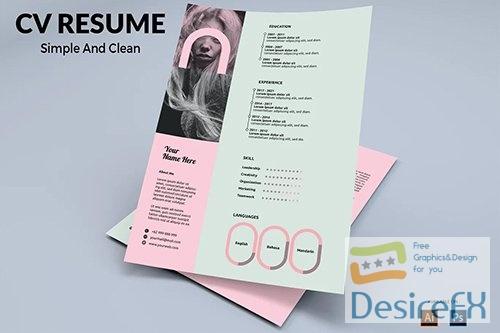 CV Resume Pastel